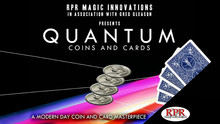 Quantum Coins (US Quarter Blue&Red Card) Gimmicks and Online Instructions by Greg Gleason and RPR Magic