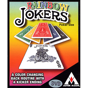 Rainbow Jokers (Poker Size and DVD included) by Astor Magic