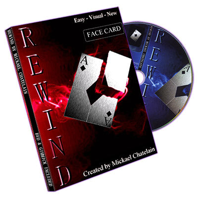 Rewind (Gimmick, DVD, FACE card, BLUE back) by Mickael Chatelain