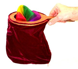 Santa's Magical Change Bag with Zippered bottom.