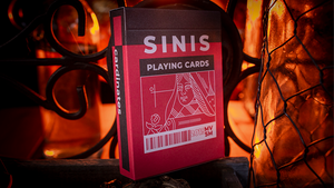 Sinis (Raspberry and Black/Turquoise) Playing Cards by Marc Ventosa with Magnetic option!