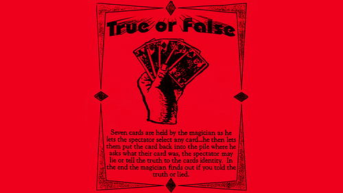 True or False by Ickle Pickle