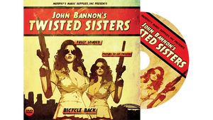 Twisted Sisters 2.0 (DVD and Gimmick) Bicycle Back by John Bannon