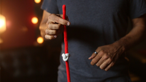 Amazing Acrobatic Knot w/xtra knot Red and White (Gimmicks and Online Instructions) by Daryl