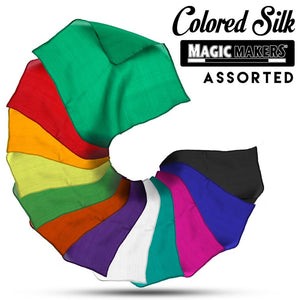 Assorted 24 inch Colored Silks- Professional Grade (12 Pack)