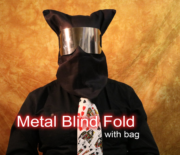 Blindfold, Metal w/ Bag - Chrome