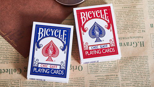 Bicycle Chic Gaff (Blue) Playing Cards by Bocopo