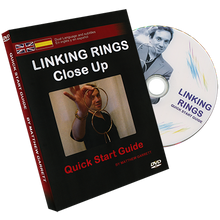 Close Up Linking Rings BLACK (RED BAG) (Gimmicks & DVD, SPANISH and English) by Matthew Garrett
