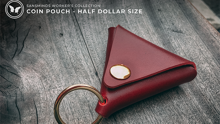 Limited Edition SansMinds Worker's Collection: Coin Pouch Red (Half Dollar Size)