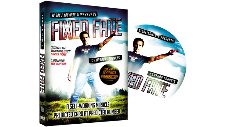 Fixed Fate aka 'Predicted Card at Predicted Number' (DVD and Gimmick) by Cameron Francis and Big Blind