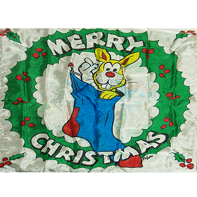 Production Silk 16 inch x 16 inch (Merry Christmas) by Mr. Magic
