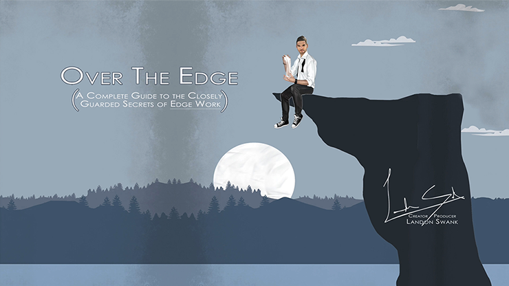 Over The Edge Blue (Gimmick and Cards Included) by Landon Swank