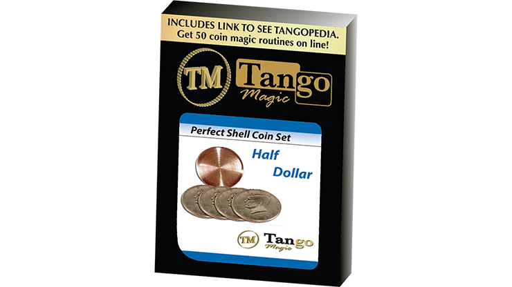 Perfect Shell Coin Set Half Dollar(Shell and 4 Coins D0201) by Tango Magic