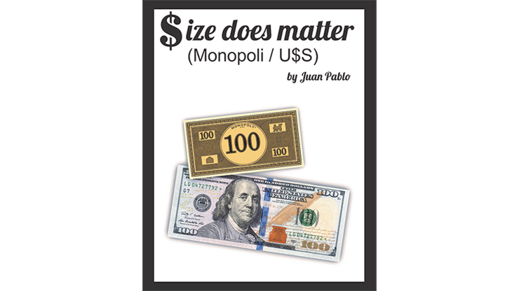 Size Does Matter MONOPOLY USD (Gimmicks and Online Instructions) by Juan Pablo Magic