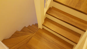 Natural Oak, Fidelity-click LVT stair cladding