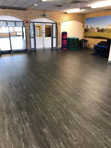 Luxury vinyl tile gym flooring