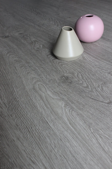 Grey Oak, Serenity-click, Luxury Vinyl Tile Flooring Sample