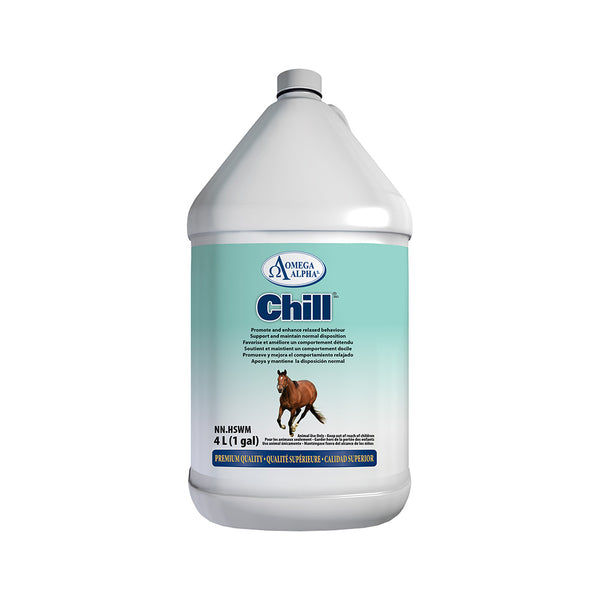 Omega Alpha Equine -- Chill™ Promotes And Enhances Relaxed Behaviour