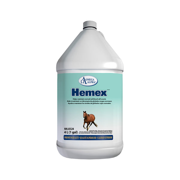 Omega Alpha Equine -- Hemex™ Blood Formula for the maintenance of normal red blood cell counts