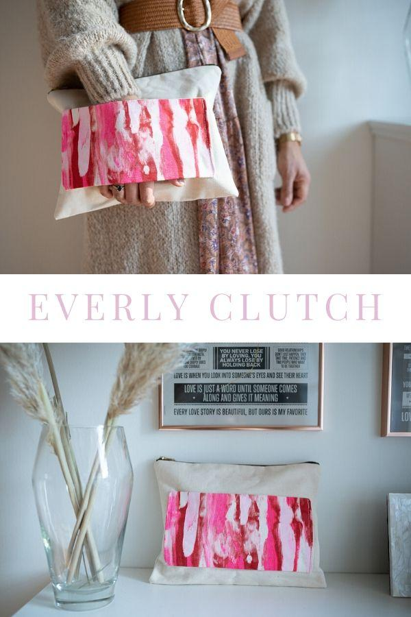 Everly Neon Clutch Pink