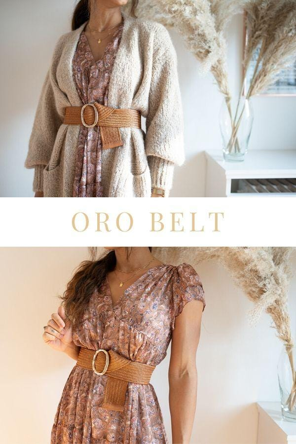 Oro Stretch Belt Brown