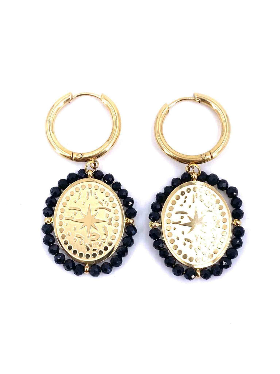 Vicky Earrings Black
