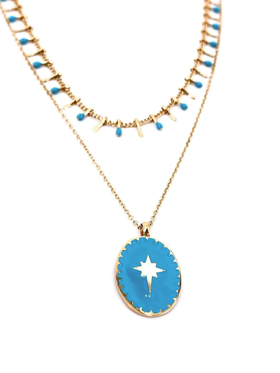Ella Necklace Blue