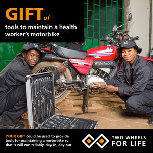 Gift for Life: Tools to maintain a health worker's motorbike