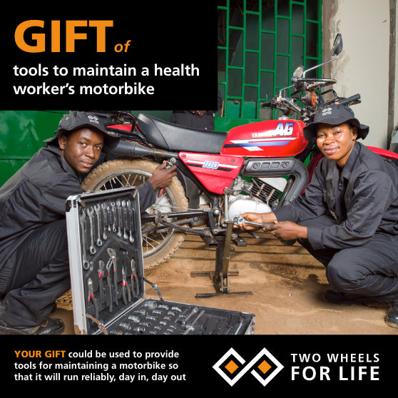 Tools to maintain a Health Worker's motorbike