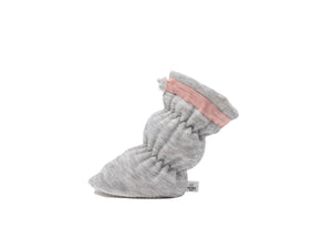 Paige - Heather Grey with Blush Trim Basic Bootie