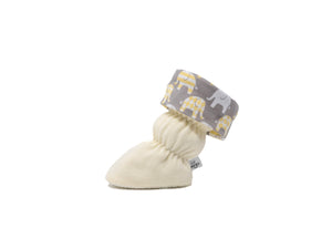 Vivi G'z Ivory with Elephant Toggle Cuff Baby Bootie