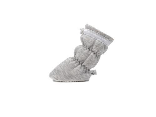 Vivi G'z Heather Grey with White Trim Basic Baby Bootie