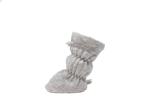 Paxton - Heather Grey with Grey Trim Basic Bootie