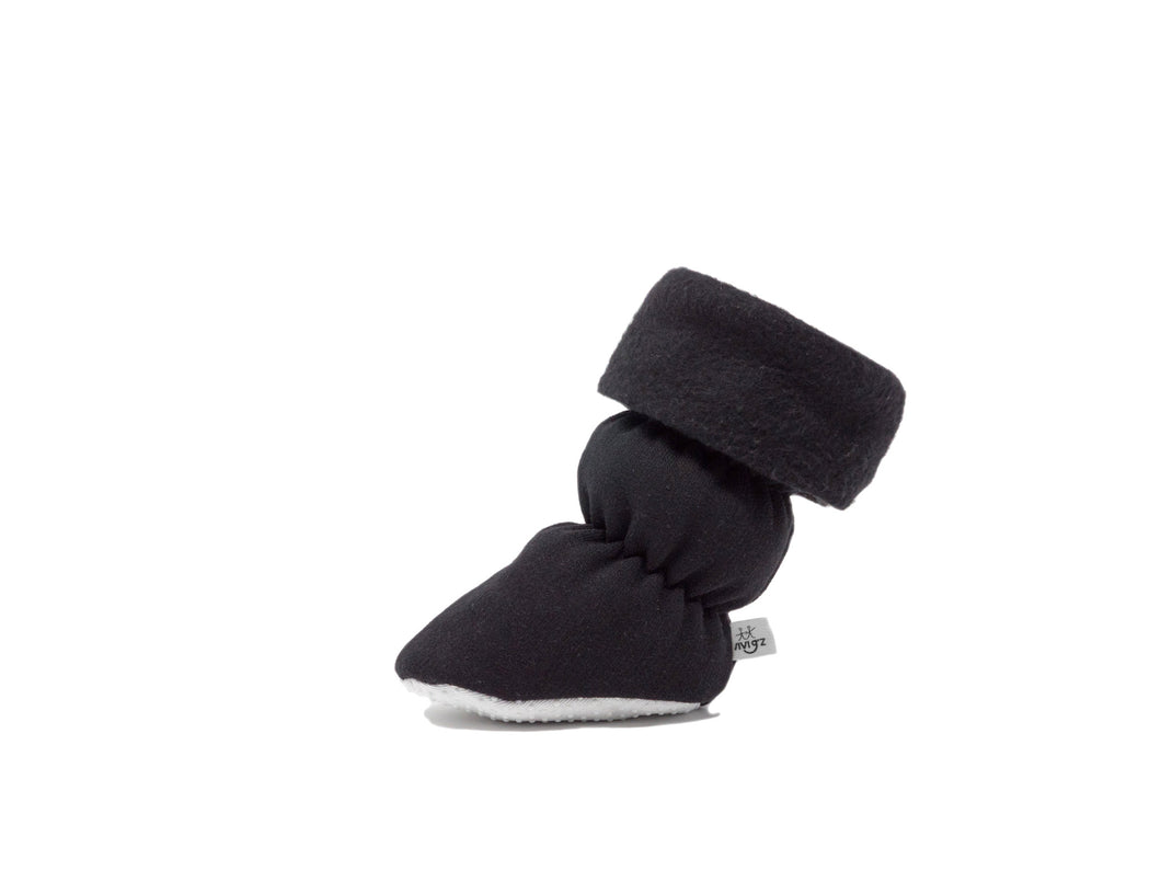 Fleece baby booties