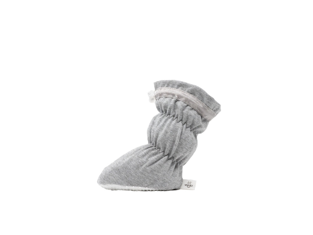 Vivi G'z Heather Grey Basic Baby Bootie