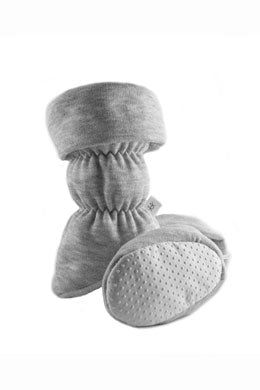 Vivi G'z Heather Grey Toggle Cuff Baby Bootie