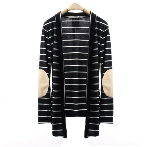 Long Striped Cardigan