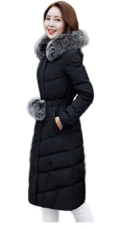 Notched Collar Winter Coat
