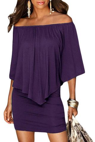 Layered Purple Mini Dress