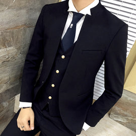 Stand Collar Suit Blazer