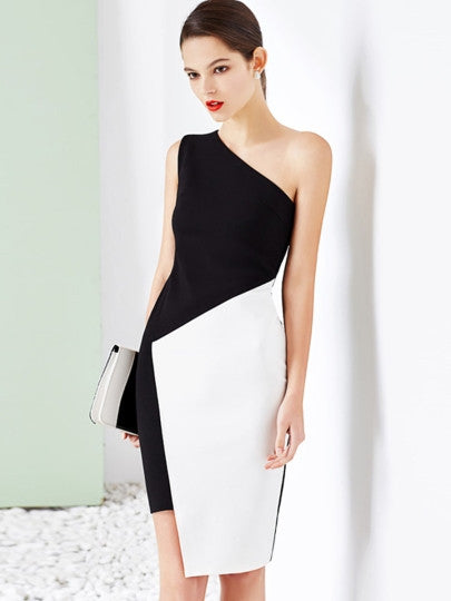 Asym Sheath Dress