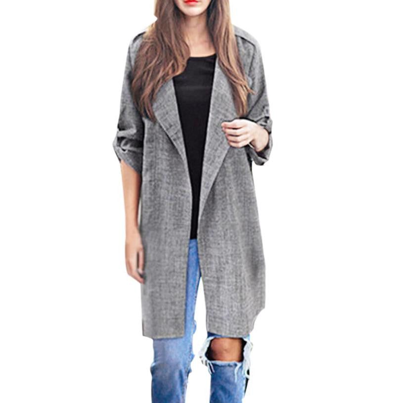 Open Front Overcoat Jackets