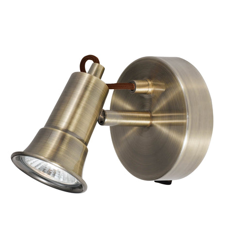 EROS - 1 LIGHT SPOTLIGHT, ANTIQUE BRASS