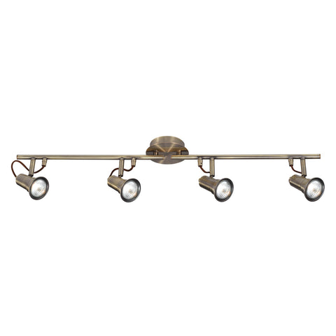 EROS - 4 LIGHT SPOTLIGHT SPLIT-BAR, ANTIQUE BRASS