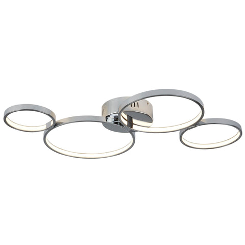 SOLEXA 4 RING LED CEILING FLUSH, CHROME