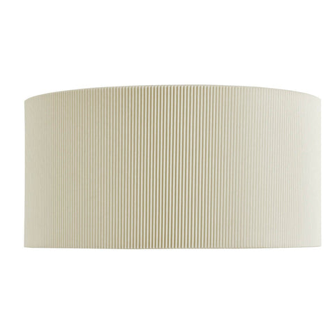 DRUM PLEAT - 2 LIGHT WALL BRACKET, CREAM PLEATED SHADE