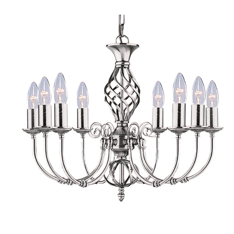 ZANZIBAR  8 LIGHT SATIN SILVER FITTING