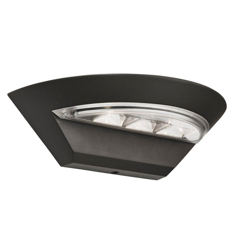 MISSISSIPPI OUTDOOR LED SEMI-CRICLE WALL BRACKET - DARK GREY