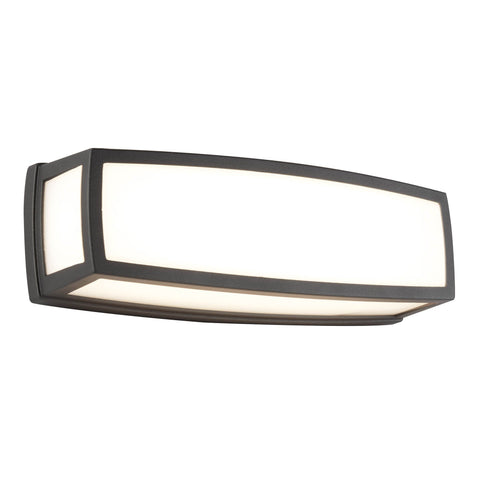 WASHINGTON OUTDOOR LARGE LED RECTANGLE, DARK GREY, OPAL WHITE, DIFFUSER WALL BRACKET/FLUSH