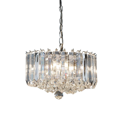 SIGMA 4 LIGHT CHROME CLEAR ACRYLIC PENDANT